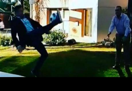 Periodista argentino quiso imitar la 'chalaca' de Cristiano Ronaldo, pero terminó en el hospital