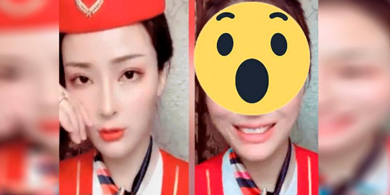 Asiática se quita el maquillaje y sorprende a sus seguidores