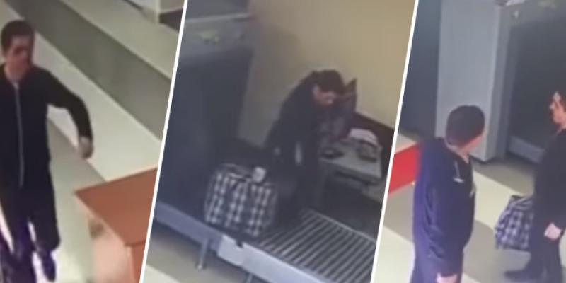 Despistado hombre pasó junto a su maleta por el control de seguridad de aeropuerto