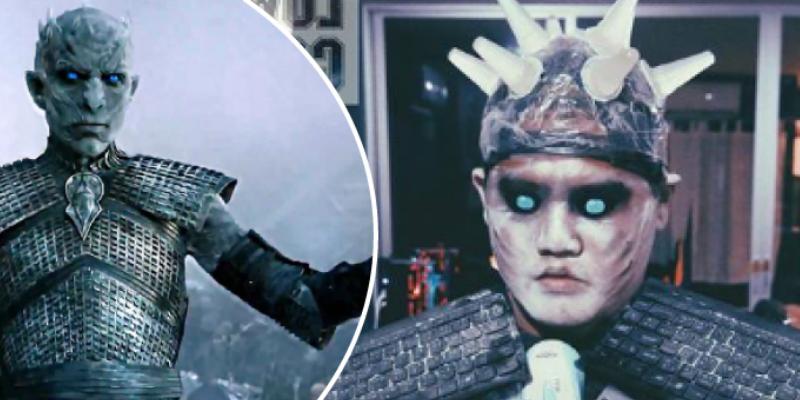 Cosplayer se disfraza del Rey de la Noche y el resultado asombró a seguidores de Game of Thrones