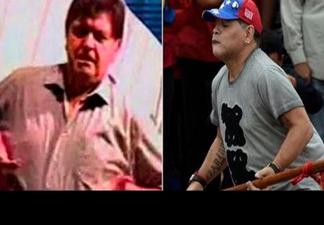 Diego Maradona imita el 'baile del teteo' de Alan García y pasa vergüenza