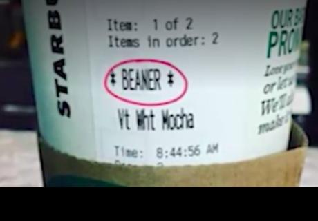 Un trabajador de Starbucks insulta por escrito a un latino en su café