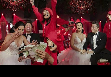 Matrimonio inspirado en 'La casa de papel' enloquece a sus invitados