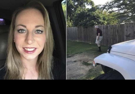 Manejaba auto junto a su familia, se bajó y su esposa empezó a llorar