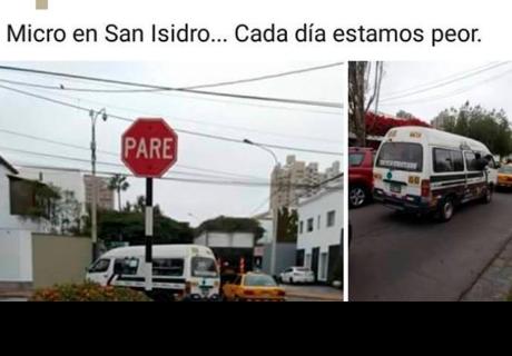Vecinos de San Isidro se quejan de una combi y son punto de burlas