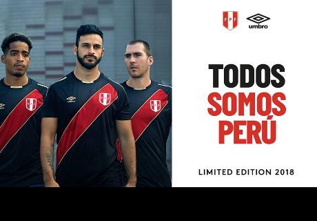 Selección Peruana presenta su nueva camiseta de color negro
