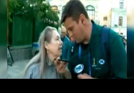 Rusa 'discute' con reportero brasileño en plena transmisión en vivo