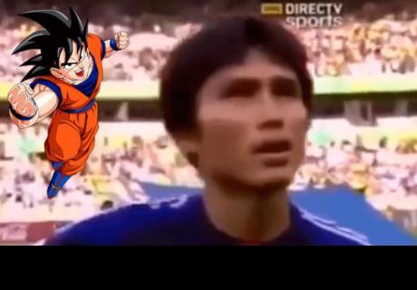 Japoneses 'cantan' intro de Dragon Ball durante su himno en el Mundial 2018
