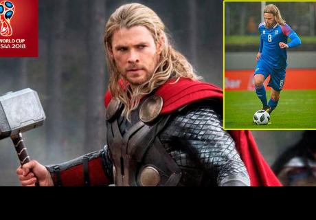 Futbolista de Islandia se roba las miradas en el Mundial por su parecido con 'Thor'