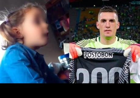 Hincha argentino insulta a Franco Armani y niña lo defiende de esta manera