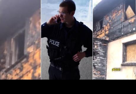 Comisaría recibió extraña llamada desde casa abandonada y al llegar se llevaron tremenda sorpresa