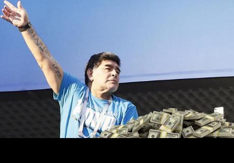 Diego Maradona recibía este increíble monto por asistir a cada partido en el Mundial Rusia 2018