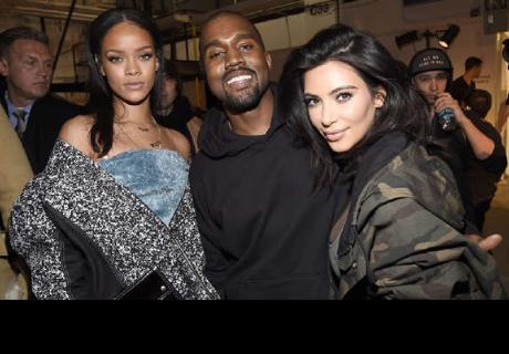 Kim Kardashian ampaya a Kanye West mirando a Rihanna y esta fue su reacción