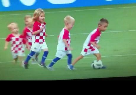 El emotivo vídeo de los hijos de los jugadores croatas tras clasificar a la final del Mundial 2018