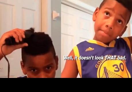 Niño quiso cortarse el cabello, pero final no fue el esperado