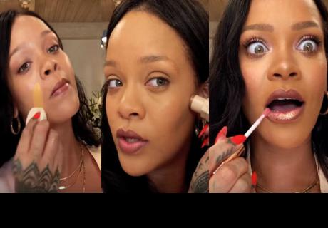 Rihanna sorprende con divertido tutorial de maquillaje