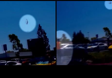 Una avioneta se precipita en picado sobre un parking de California