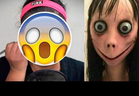 Chica se maquilla como 'Momo' y causa gran susto en cibernautas