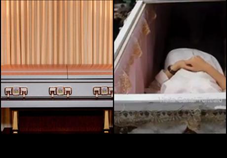 Mujer duerme en ataúd como parte de ritual contra la desgracia y se muere