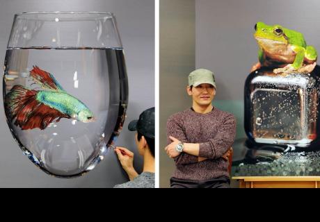 Un magnífico artista coreano que te hace dudar si son pinturas o fotos