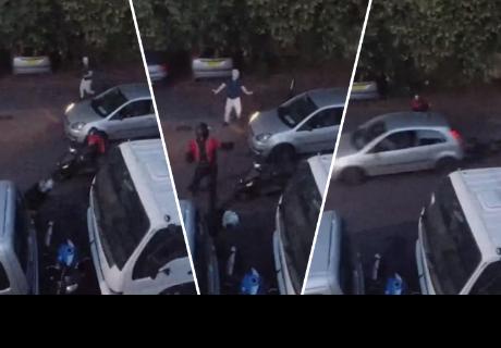 Hombre tuvo osada reacción al descubrir a ladrones intentando llevarse una motocicleta