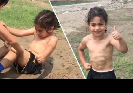 Niño entrena hasta las lágrimas para ser como Cristiano Ronaldo
