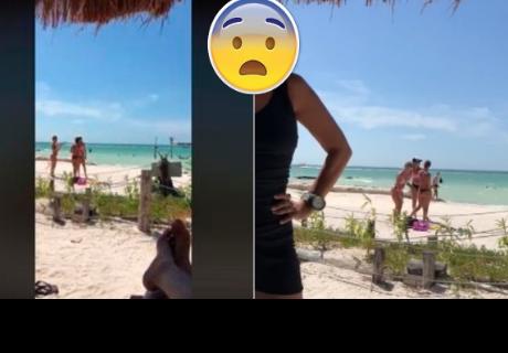 Se divierte enfocando a mujeres en bikini, pero 'detalle' lo deja en ridículo