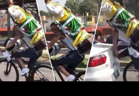 Hombre manejaba bicicleta, se distrajo y ocurrió lo peor
