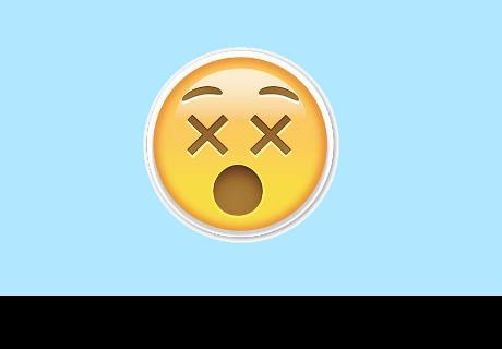 Esto significa el emoji de la carita con los ojos en 'x' de WhatsApp