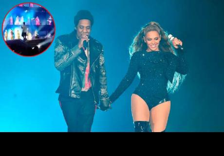 Beyoncé y Jay Z: hombre ebrio salta al escenario durante concierto