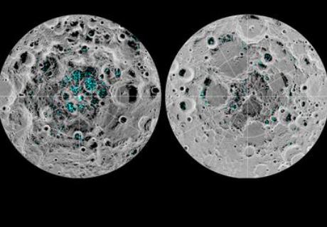 ¡Hay hielo en la luna! Las imágenes lo confirman