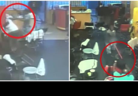 El dueño de una peluquería expulsa a escobazos a tres hombres armados con pistolas