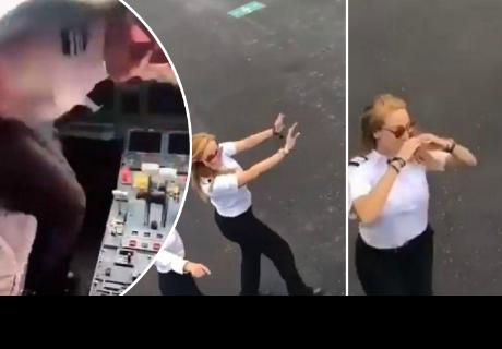 Piloto realizó el 'Kiki Challenge' en un avión y generó diversas reacciones en la red