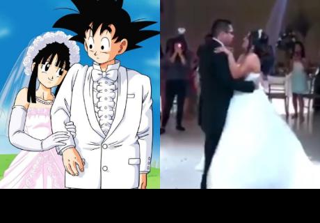Tema de 'Dragon ball' suena durante vals de boda y la reacción del novio te hará llorar