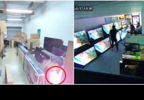 Un cigarrillo electrónico explota en los pantalones de un hombre en medio de una tienda