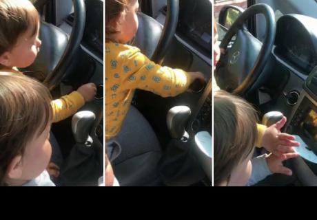 Gemelos fueron 'ampayados' cuando pretendían irse de paseo en el auto de su padre