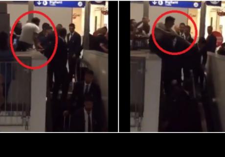 Cristiano Ronaldo vive un momento de tensión cuando un intrépido fan intenta tocarlo