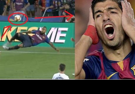 ¡Tremenda acrobacia! Vidal realiza una tijera que Suárez no pudo hacer gol