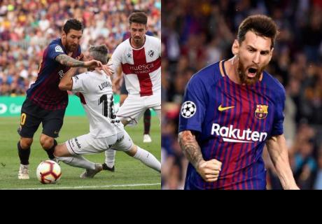 Messi se burló de 5 , dejó a uno en el suelo y metió un golazo al Huesca