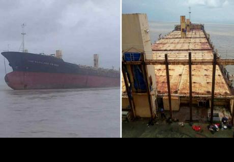 Misterioso barco fantasma aparece en las costas de Myanmar