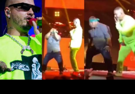 Fan de J Balvin se roba todas las miradas en pleno concierto