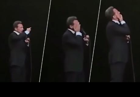 Luis Miguel no pudo evitar llorar en pleno concierto
