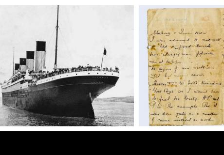 Subastan carta inédita escrita en el Titanic