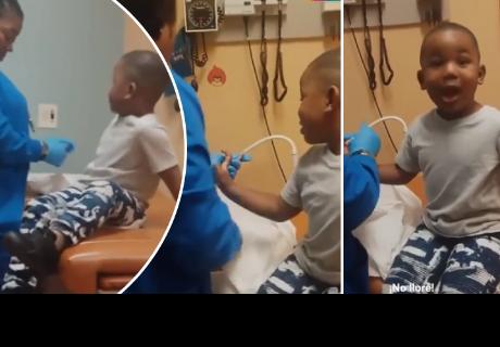 Enfermera realiza increíble truco para inyectar a un niño sin que llore