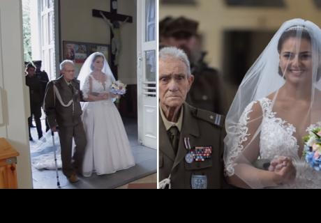 Abuelo llevó a su nieta al altar y dos días después ocurre lo peor