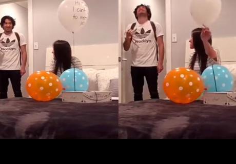 La divertida reacción de un joven al enterarse que va a ser papá