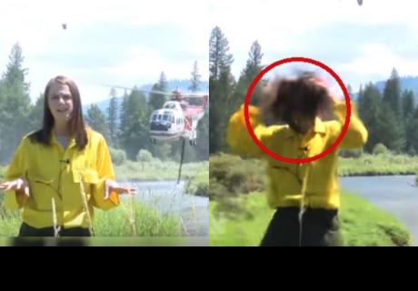 Reportera transmitía en vivo y fue interrumpida de esta cruel manera
