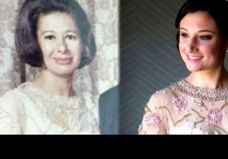 Usó el vestido favorito de su abuela a la que nunca conoció en el día de su boda