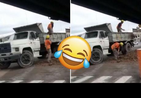 Dos trabajadores cometen terrible error en sus actividades y son criticados en la red