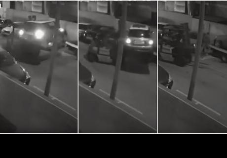 Delincuentes levantan autos en peso para robárselos